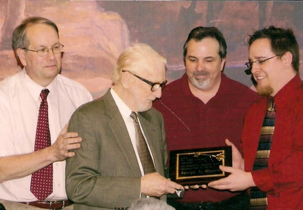 From the 2011 Key to the Locks Awards are Doug Farley, left, ECDC director; Joe Whalen, 2011 Key Award recipient; Jay Krull, Key Award committee; and Craig Bacon, Niagara County deputy historian.