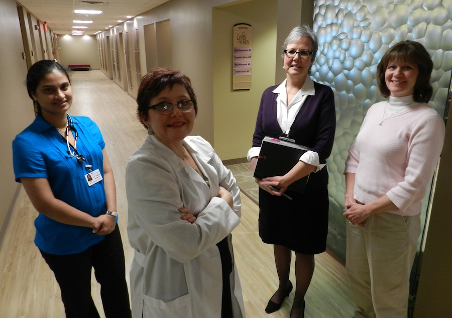 Pictured above are Dr. Sharmilee Thota, Andrea Rosati, Margaret Brady and Dr. Judy Wesolowski.