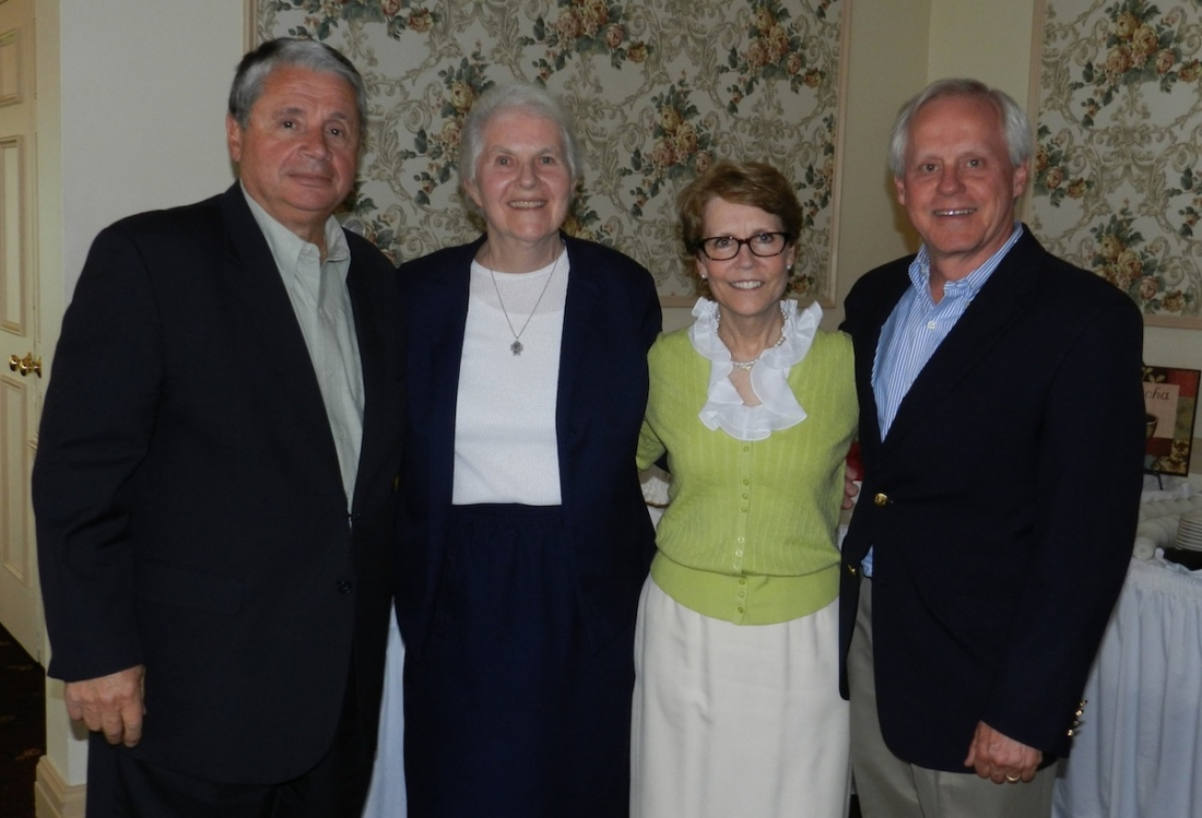 In photo, from left: Carmen Granto, Sr. Margaret Tuley, Judith A. Maness and Robert J. Travis.