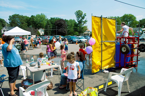 The dunk tank is one of many attractions at the Newfane Town Celebration. (photo by Wayne Peters)