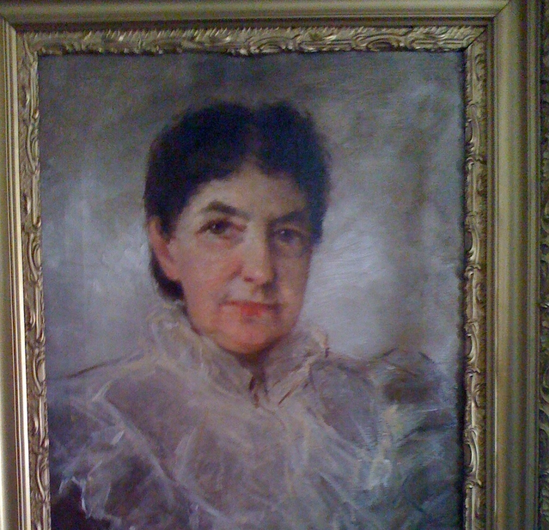 Shown is the portrait of Nina Starkweather that will be on display Saturday.