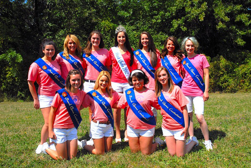 2012 Lewiston Kiwanis Peach Festival Peach Queen contestants (with current Peach Queen Chelsea Pelsone).
