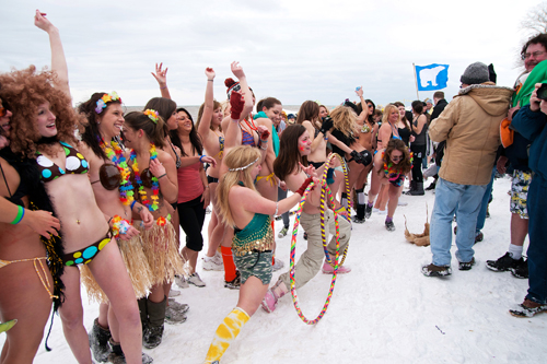 Contestants ready for the Polar Bear Queen contest at last year's Swim for Sight. (photo by Wayne Peters)