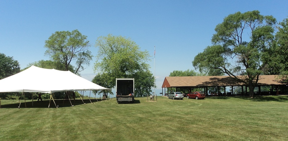 Preparations continue at Porter on the Lake for this weekend's 200th birthday celebration.