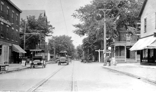 A view of Main Street in the Village of Youngstown in 1917. (photos courtesy of the Town of Porter)
