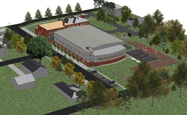A sketch of the proposed Village of Lewiston recreation center. (photo courtesy of Giusiana Architects & Engineer)