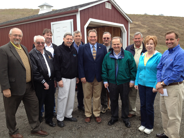 Pictured from left: Village of Lewiston trustees Bruce Sutherland and Ernie Krell; Sunnking President and CEO Duane Beckett; Village of Lewiston Mayor Terry Collesano; Town of Lewiston Councilman Ron Winkley; Assemblyman John Ceretto; Village of Lewiston Trustee Vic Eydt; State Sen. George Maziarz; Town of Lewiston Supervisor Steve Reiter; Village of Lewiston Clerk/Treasurer Anne Welch; and Town of Lewiston Councilman Mike Marra.