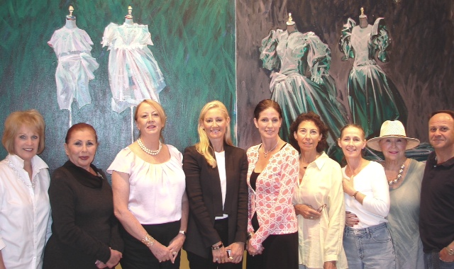 Pictured from left are Castellani Art Museum gala committee members Fay Northrop, Dorothy Tomarin, Ellen Joseph, Sophia Smith, Ellen Augello (committee chairwoman), Carla Castellani, Susan Geissler, Rose Gellman and Bob Bloom.