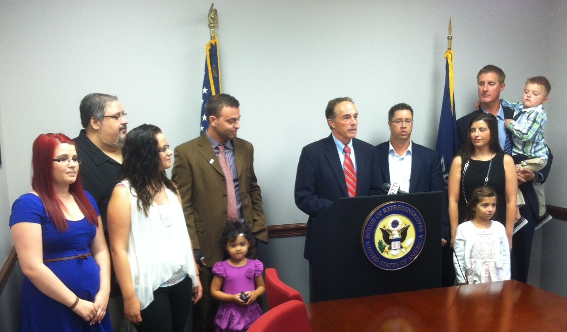 Congressman Chris Collins is pictured with local families representing the Western New York Chapter of JDRF.