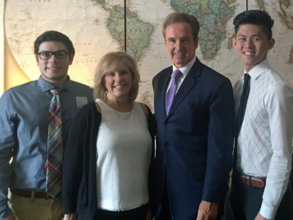 Pictured, from left: Jonathan Bayley, Jamie Bayley, Congressman Brian Higgins and Ricky Chen.