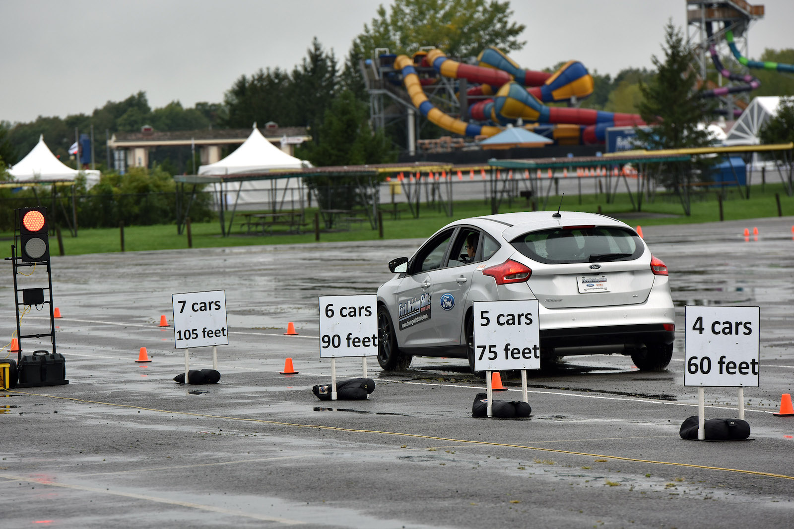 Ford Driving Skills for Life in action at Darien Lake Theme Park this weekend. (Submitted photo)