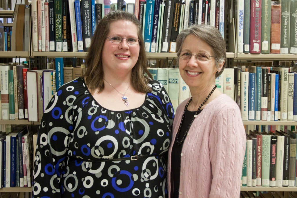 Niagara University senior Kimberly Kennedy, left, is the 2015 recipient of the Ethel F. Lord Fellowship Award in gerontology, an honor she was nominated for by Dr. Susan Mason.