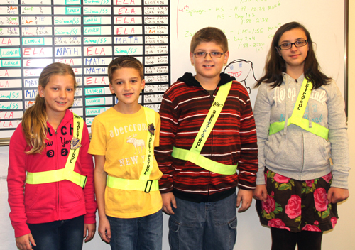 Lewiston-Porter Safety Patrol members Gracie Auer, Justin Pava, Jessy Bunnel and Willow Cutlip.