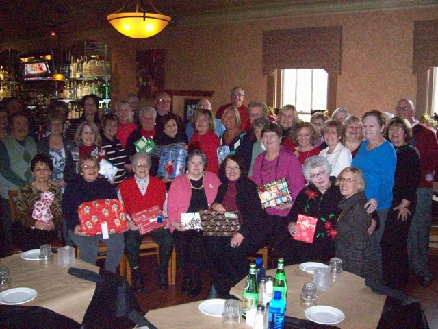 Pictured above are 37 of the Lewiston-Porter Elementary Retirees with their donated gifts for the Youngstown/Porter Community Holiday Baskets.