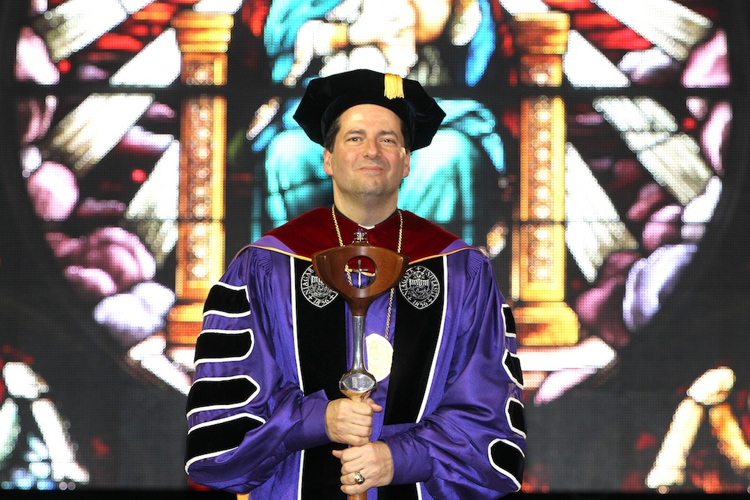 The Rev. James J. Maher, C.M., was formally inducted as Niagara University's 26th president during a ceremony held Friday, April 4.