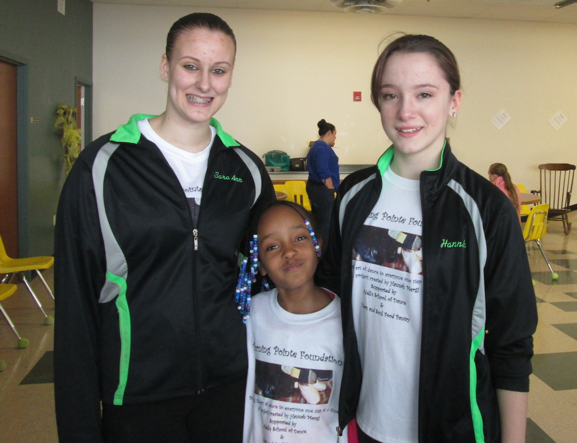 Shown, from left, are Sara Humphrey, Aniyae Figueras and Hannah Mergi.