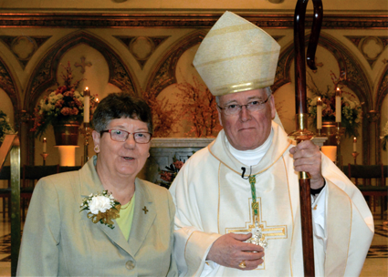 Dr. Judith A. Merkle, SNDdeN, professor of religious studies at Niagara University, celebrated her 50th anniversary of religious profession during a special Mass at St. Joseph's Cathedral in Buffalo. The Most Rev. Richard J. Malone, bishop of Buffalo, served as the main celebrant and homilist.