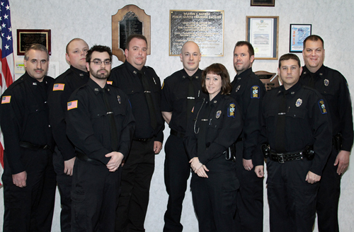 Pictured, from left, are Ken Bak, Zakary Darlak, Alfred Alison, Lance Froelich, Adam Wind, Heather Grimmer, Mike Nikonowicz, Tony Steward and Steven Hausrath.