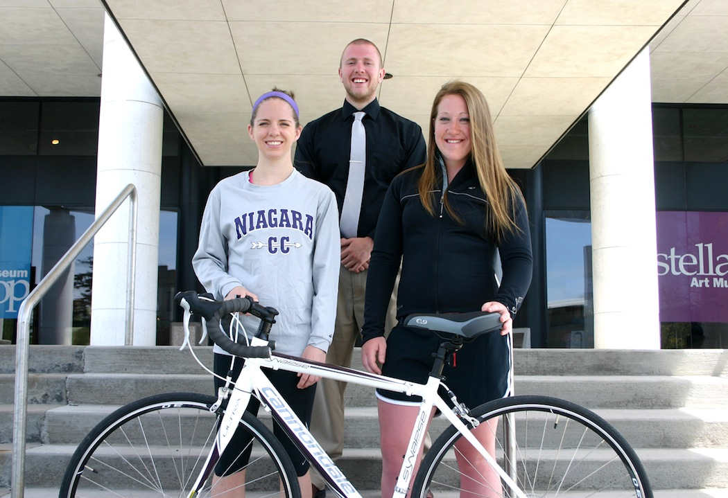 Niagara University seniors Nicole Mehlman and Catherine Cardinal are participating in the 4K for Cancer this summer, one year after classmate Vince Schiano raised more than $7,100 by riding a bicycle from Baltimore to San Francisco. Not pictured: Ashley Blossom.