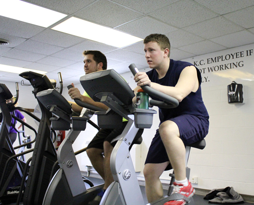 Niagara University students Christopher Zukas, left, and Vince Schiano are planning to make a cross-country bike ride this summer in support of cancer patients.