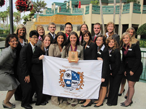 Niagara University's student chapter of the Club Managers Association of America.
