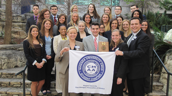 The Niagara University student chapter of the Club Managers Association of America.