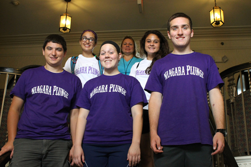 Several Niagara University students volunteered their time at Carolyn's House, a housing program for homeless women and children in Niagara Falls.