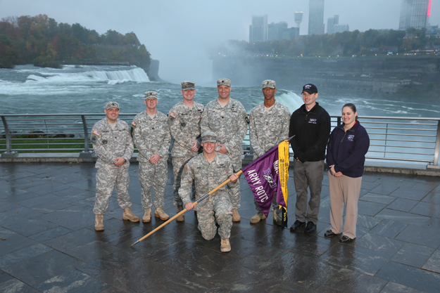 NU's ROTC at Niagara Falls.
