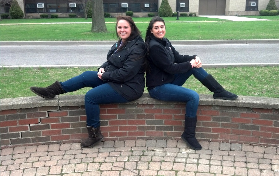 NU students Vanessa and Christina are preparing to shave their heads for a good cause.