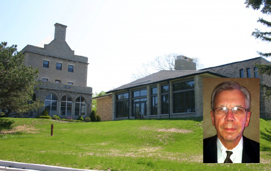 William Gacioch (inset) and his family have donated money to renovate Meade Hall (left). (Niagara University photo used in collage)