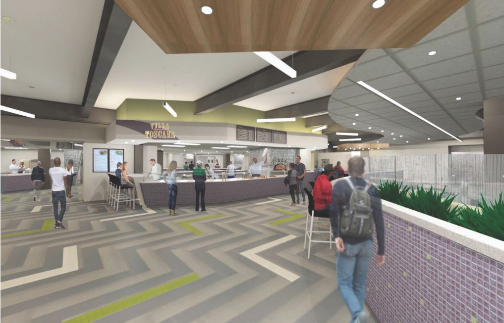 An artist's rendering of the inside expansion at Clet Hall (Niagara University image)