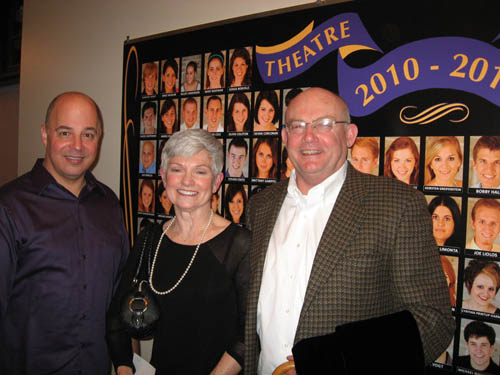 Pictured from left: Gregory Fletcher, director of Niagara University Theatre, and Candy and Tom Lytle, co-chairs of the 26th annual Friends of Niagara University Theatre Gala, to be held on April 30.
