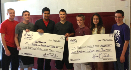 Pictured from left are Shawn Sutton, vice president of marketing for The Flock Squad; Dennis Murphy, vice president of finance; Satnam Singh, co-president; John Danver, co-president; Corey Gatto, vice president of human resources; LeAnne Wills, vice president of production; and Tom Carella, vice president of public relations.