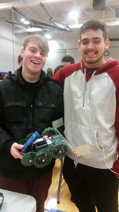From left at Tech Wars: Nick Cabin and Chris Lewandowski.