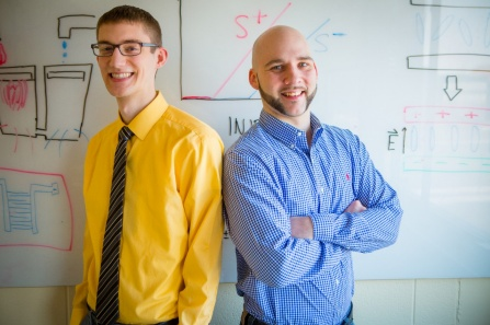 UB Goldwater Scholarship recipients Nigel Michki, left, and Sean Bearden. (photo by Douglas Levere, University at Buffalo)
