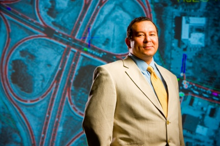 UB's Adel Sadek, Ph.D., mines `big data` to help solve regional and national transportation issues. (photo by Doug Levere)