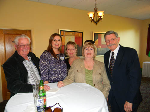 At the above table, Chamber of Commerce President Jennifer Pauly joins with Village of Lewiston officials and their wives. From left, Village of Lewiston Trustee Ernie Krell, Pauly, Jeanette Collesano, Pat Krell and Village of Lewiston Mayor Terry Collesano.
