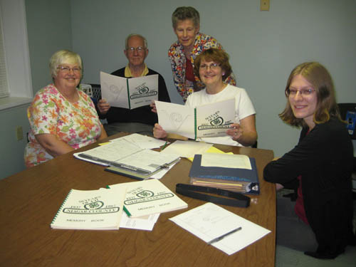 Making plans to celebrate 75 years of 4-H in Niagara County are committee members (from left) Linda Conlin, John K. Hall, Sue Wendler, Debi Sweeney and Kyle Lefort.