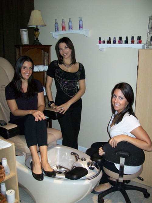 Pictured from left are D'Amore Salon & Day Spa staff Christiana Curcio, Mara Palermo and Samantha Fagiani.