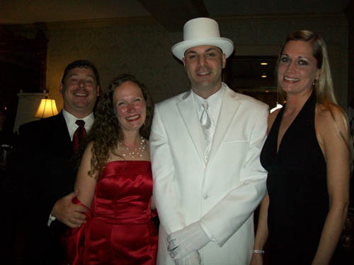 Pictured from left: Chris and Jodee Riordan; Ken Scibetta and Allison Greene