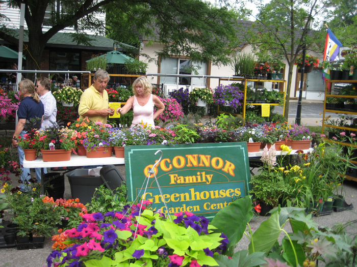 A scene from the 2010 Lewiston GardenFest.