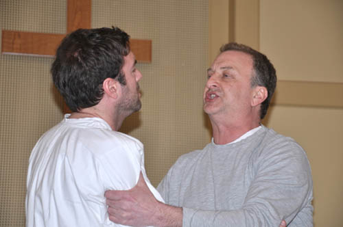 Chris Teal as Jesus and Daniel Morris as Pilate in the First Presbyterian Church of Youngstown presentation `Jesus Christ Superstar.`