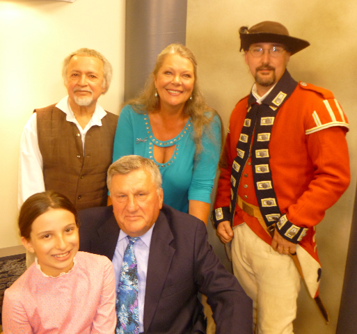 In the photo, sitting from left: Madeline Catalano, Jerry Wolfgang; standing: Jerry Mosey, Eva Nicklas and Matt Hake.