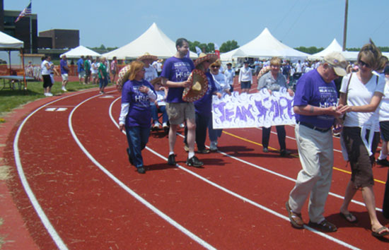 The survivors' opening lap at last year's Relay For Life.