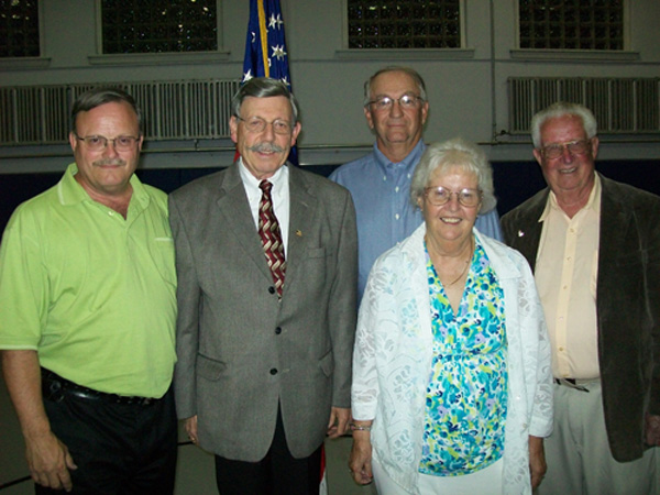 Pictured, from left, are Vic Eydt, Terry Collesano, Bruce Sutherland, Terri Mudd and Ernie Krell.