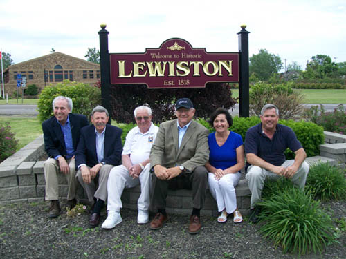 Pictured from left: H.A.L.'s Lee Simonson, Village of Lewiston Mayor Terry Collesano, Village of Lewiston Trustee Ernie Krell, H.A.L. President Bruce Sutherland, Lewiston Garden Club President Sharon Low and Town of Lewiston Supervisor Steve Reiter.