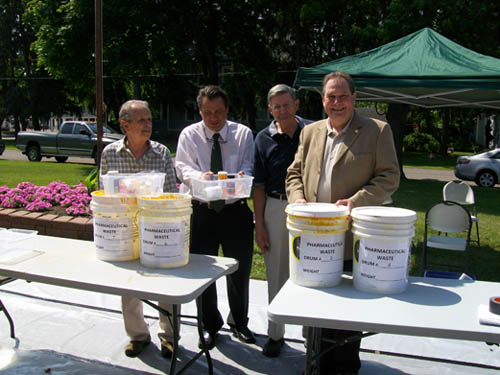Niagara County Legislator Richard Soluri, Refuse Disposal District Director Rick Pope, Village of Lewiston Mayor Terry Collesano and Assemblyman John Ceretto.