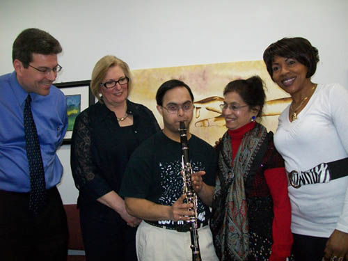 Pictured from left are Jeff Sanderson, Rivershore Inc. executive director; Christine Sirianni of the Family & Friends Down Syndrome Association of Niagara; musician and speaker Sujeet Desai; speaker Dr. Sindoor Desai; and speaker Scholasti Sungula.