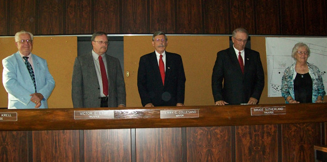 The new Village of Lewiston Board of Trustees.