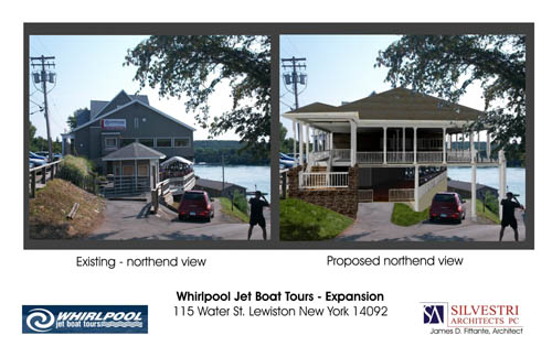 The proposed Whirlpool Jet Boat Tours expansion. (sketch by Silvestri Architects)